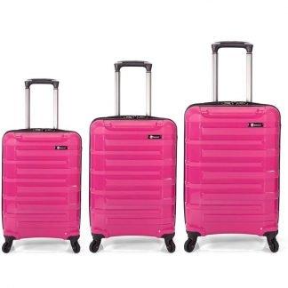 Vista forntal de las tres maletas