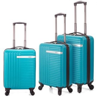 Juego de 3 maletas Benzi BZ5161TUR en color gasolina