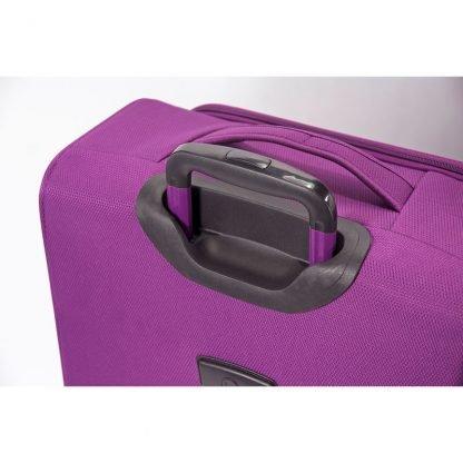 Detalle de la trasera de la maleta