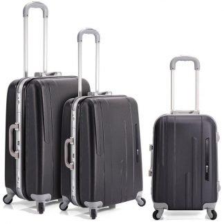 Juego de 3 maletas Benzi BZ5220 en color negro Negro